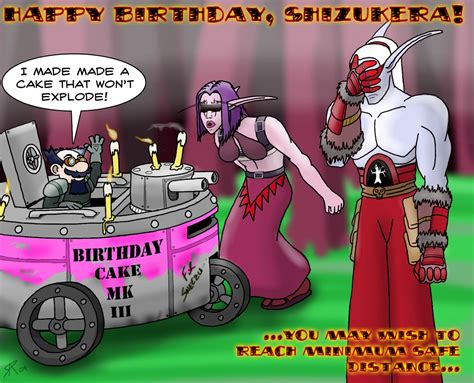 World Warcraft Birthday Card Raptor 13 The Creative Constructions Of Richard Powell