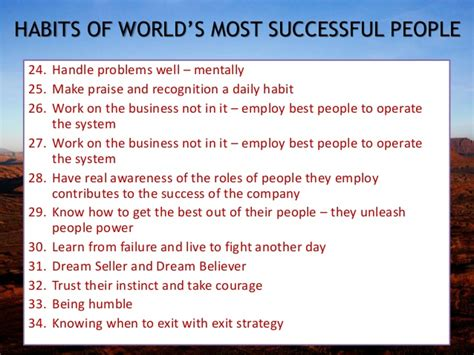 24 Daily Habits That Will Habits Of World Successful