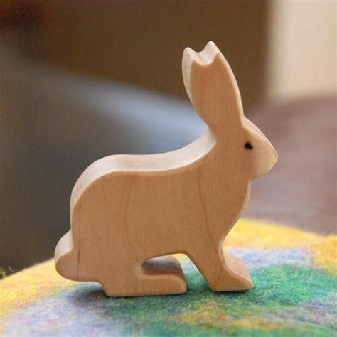 rabbit in woodworking carved wooden rabbit bunny jackrabbit handmade animal