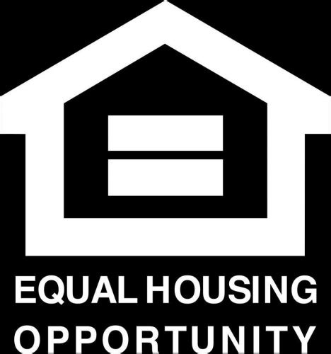 equal opportunity housing equal opportunity fair housing vinyl decal 4x4 white