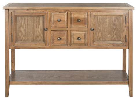 oak sideboards and buffets safavieh storage sideboard oak transitional buffets and sideboards by safavieh