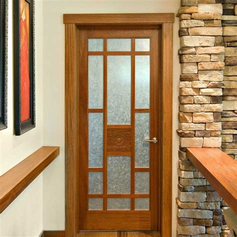 Wooden Glass Double Door Hpd477 Glass Panel Doors Al Interior Oak Doors With Glass