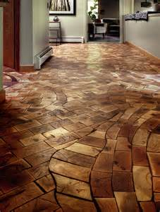 floor made from waste product from local pallet factory