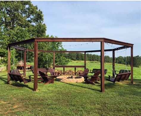 pergola swing tutorial build an amazing diy pergola and firepit with