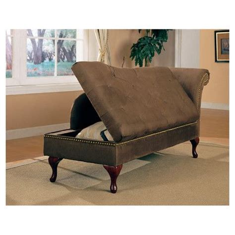 Indoor Chaise Lounge With Storage Alpha Storage Chaise Lounge In Brown Where Can I Put This Interests Home Decorating