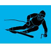 Image Gallery Skiing Silhouette