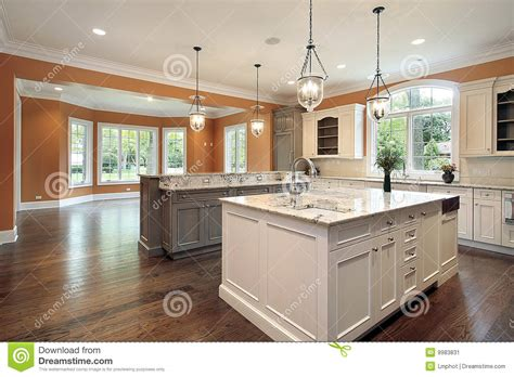 new construction kitchen kitchen in new construction home stock image image 9983831