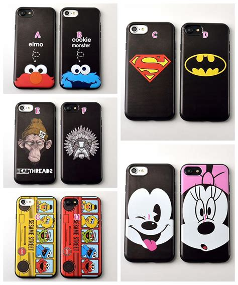 For Iphone 7 Luxury Batman Superman Black Soft Casing for iphone 7 7p 7 6 6s plus mickey minnie mouse soft silicone batman rubber cover superman