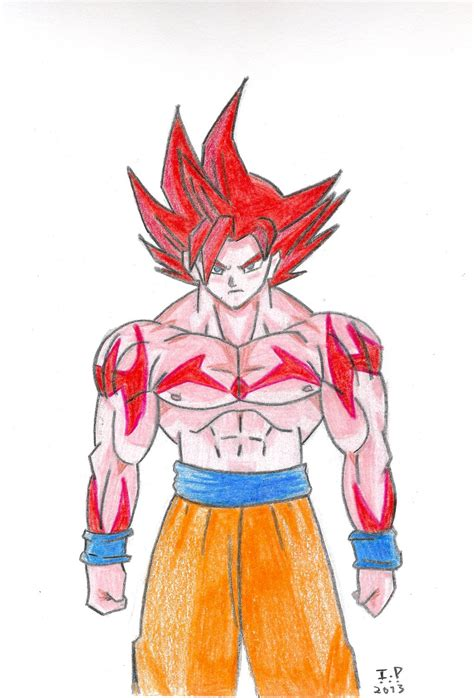 super sayan god goku by turock x on deviantart
