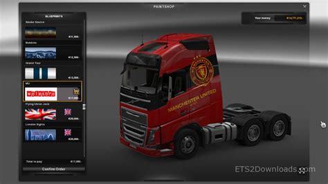 Skin Manchester manchester united skin for volvo fh truck simulator 2 mods