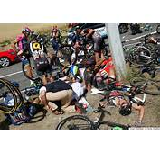 Horrible Tour De France Crash Brings Down 20 Riders Briefly Stops