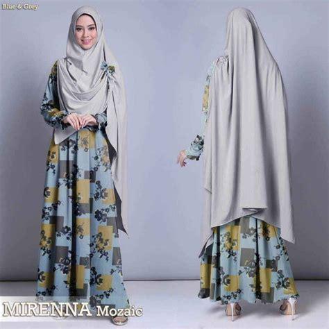 Maxmara Buterfly Gamis Syar I Baju Muslim gamis maxmara kombinasi mirenna mozaic biru model baju gamis terbaru