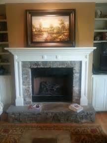 fireplace with raised hearth home