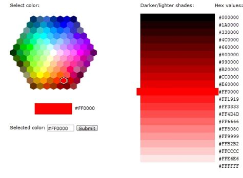 w3schools color picker pin by broadbent on web design