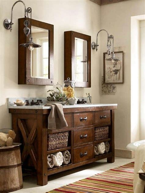 pottery barn style bathroom vanity home decor design