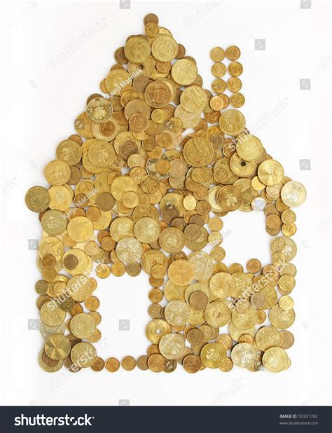 house made of gold small house made out of gold coins stock photo 10331782