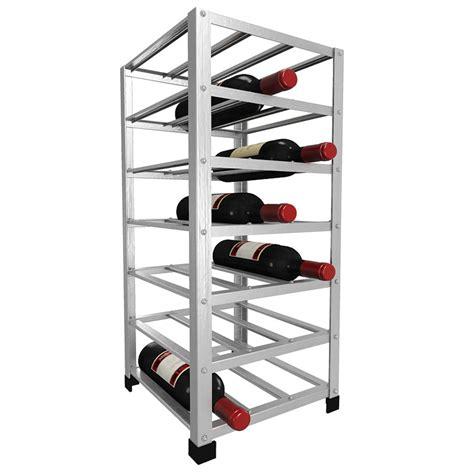 Metal Wine Racks by Big Metal Wine Rack Fully Assembled 21 Bottle Wine