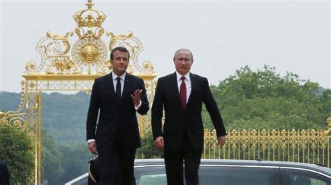 emmanuel macron putin macron hosts putin for first talks in latest diplomatic