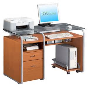 Rolling Computer Desks Computer Desk With Rolling Cpu Stand Dcg Stores