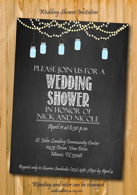 diy chalkboard bridal shower invitations printable wedding shower invitation diy invitation