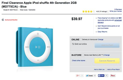 ipod shuffle best buy best buy clearance apple s 4th generation ipod