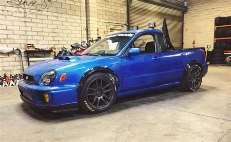 2004 subaru wrx modded mighty car mods made this wrx ute for their road trip with