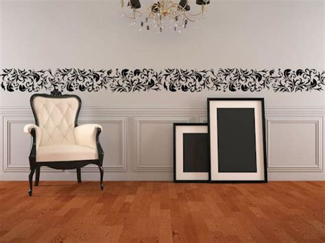 wall border sticker damask border wall decals trading phrases