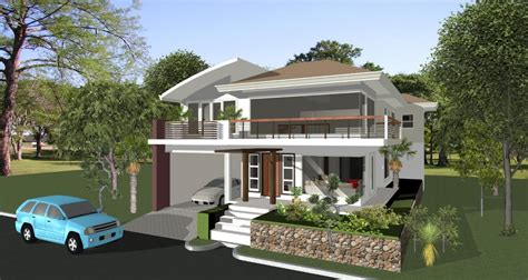 2 storey house design with rooftop photo modern house