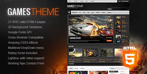 gamestheme premium html5 css3 template by thememakers
