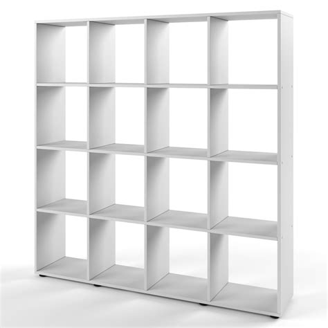 bookcase room divider standing shelving filing shelves storage 16 compartments ebay