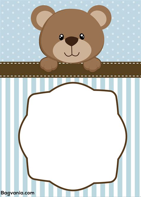template for a teddy free teddy birthday invitation templates free