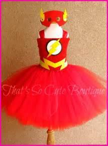 Flash girl tutu dress flash super hero tutu dress red yellow