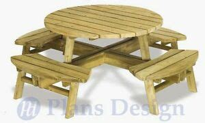 traditional  picnic table  benches  door