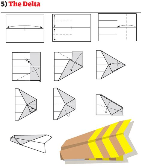 How To Make A Delta Wing Paper Airplane - paper airplanes how to fold and create paper airplanes