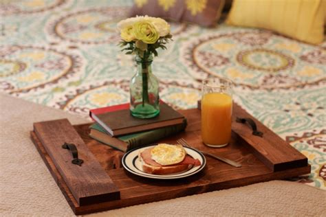 rustic wood coffee table tray home decor ottoman by
