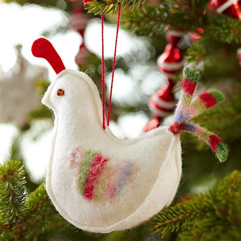 Handmade Bird Ornaments - beautiful handmade bird ornaments from better homes and