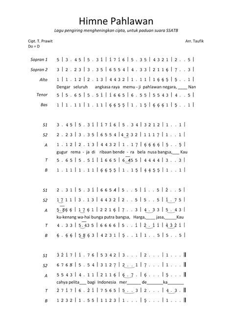 lirik lagu mengheningkan cipta not angka mengheningkan cipta alto belajar not angka
