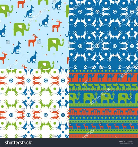 design pattern for zoo zoo pattern animals animals silhouette vector stock vector