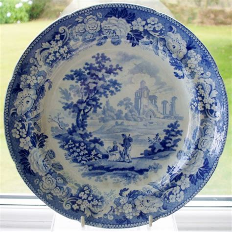 old blue pattern plates antique english georgian blue and white transfer biddulf