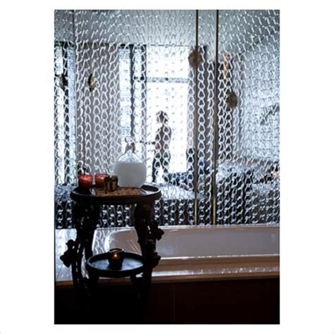 chain curtain room divider gap interiors chain link curtain room divider picture