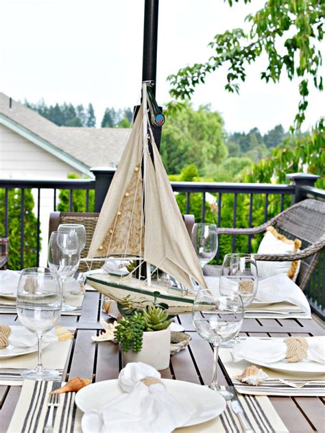 summer table settings nautical outdoor table setting at the picket fence
