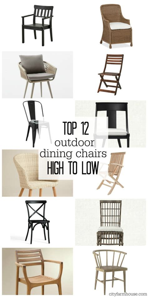 outdoor farm style dining chairs top 12 outdoor dining chairs high to low city farmhouse