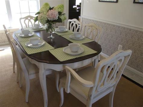 vintage french provincial dining room table  chairs