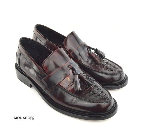 mod tassel loafers basket weave oxblood tassel loafers the allnighter mod