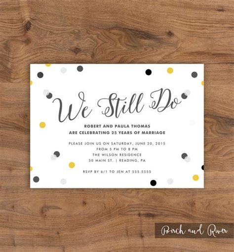 Wedding Anniversary Cards By Email by Best 25 Anniversary Invitations Ideas On