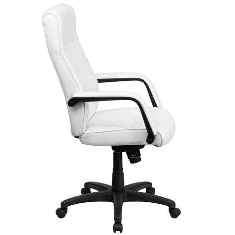 Office Chairs Swivel Ergonomic Home High Back White Leather Executive Swivel