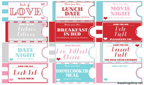printable love coupon book i heart nap time