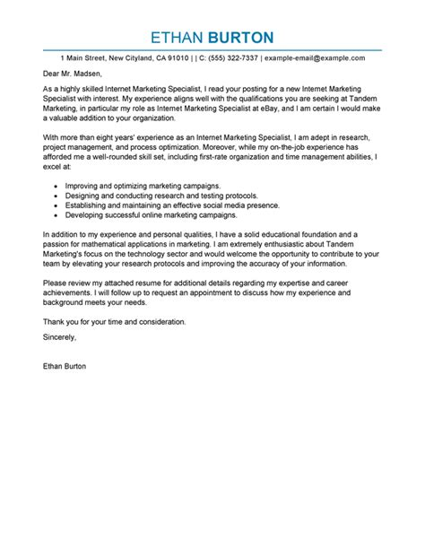 best online marketer and social media cover letter