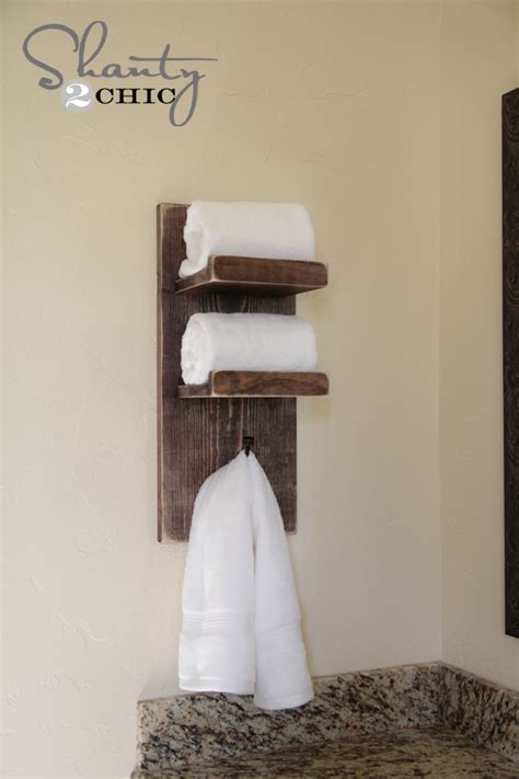 Super cute diy towel holder shanty 2 chic