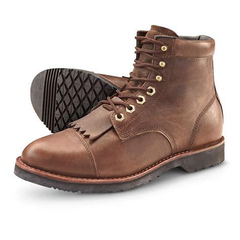 s guide gear 174 kiltie cap toe boots brown 205640